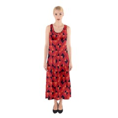 Fake Wood Pattern Sleeveless Maxi Dress by linceazul