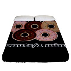 Five Donuts In One Minute  Fitted Sheet (king Size) by Valentinaart