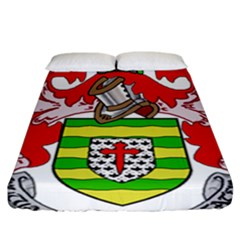 County Donegal Coat Of Arms Fitted Sheet (california King Size) by abbeyz71