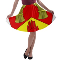 County Londonderry Coat of Arms A-line Skater Skirt