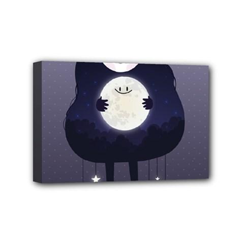Moon Mini Canvas 6  X 4  by Mjdaluz