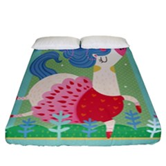Unicorn Fitted Sheet (california King Size) by Mjdaluz