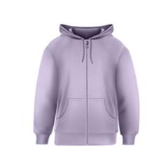 Pastel Color   Light Violetish Gray Kids  Zipper Hoodie by tarastyle