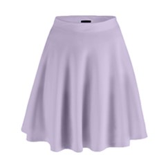 Pastel Color - Light Violetish Gray High Waist Skirt by tarastyle