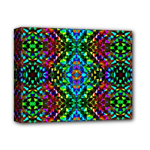 Glittering Kaleidoscope Mosaic Pattern Deluxe Canvas 14  X 11  by Costasonlineshop