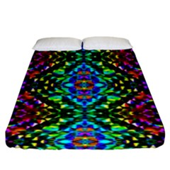 Glittering Kaleidoscope Mosaic Pattern Fitted Sheet (king Size) by Costasonlineshop