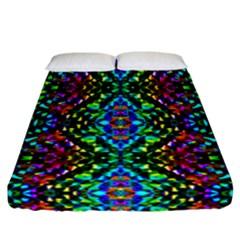 Glittering Kaleidoscope Mosaic Pattern Fitted Sheet (california King Size) by Costasonlineshop