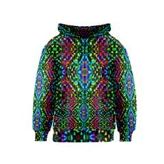 Glittering Kaleidoscope Mosaic Pattern Kids  Zipper Hoodie