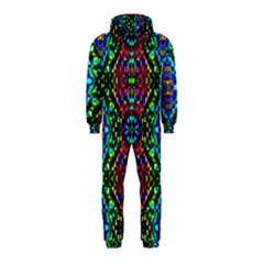 Glittering Kaleidoscope Mosaic Pattern Hooded Jumpsuit (kids) by Costasonlineshop