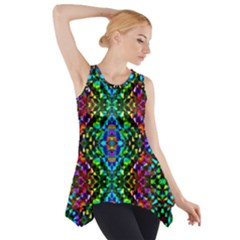 Glittering Kaleidoscope Mosaic Pattern Side Drop Tank Tunic by Costasonlineshop