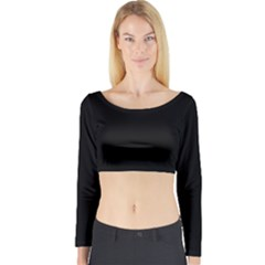 Black Gothic Long Sleeve Crop Top by Costasonlineshop