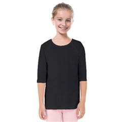 Black Gothic Kids  Quarter Sleeve Raglan Tee by Costasonlineshop
