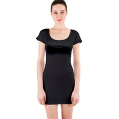 Black Gothic Short Sleeve Bodycon Dress by Costasonlineshop