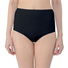 Black Gothic High Waist Bikini Bottoms by Costasonlineshop