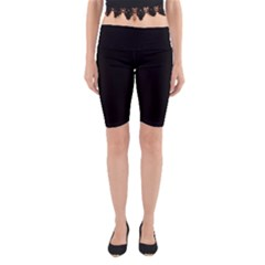 Black Gothic Yoga Cropped Leggings by Costasonlineshop