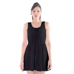 Black Gothic Scoop Neck Skater Dress by Costasonlineshop