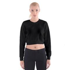 Black Gothic Cropped Sweatshirt by Costasonlineshop