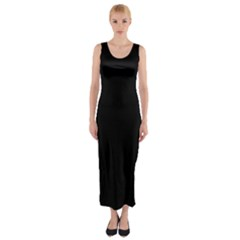 Black Gothic Fitted Maxi Dress by Costasonlineshop
