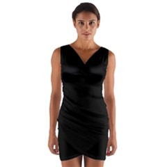 Black Gothic Wrap Front Bodycon Dress by Costasonlineshop