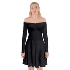 Black Gothic Off Shoulder Skater Dress by Costasonlineshop