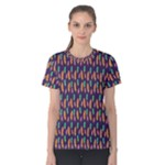 Multi Feather Print Tee - Women s Cotton Tee