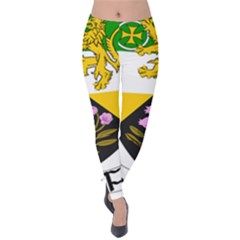 County Offaly Coat Of Arms  Velvet Leggings by abbeyz71