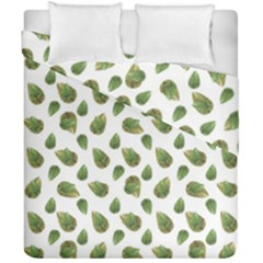 Leaves Motif Nature Pattern Duvet Cover Double Side (california King Size) by dflcprints