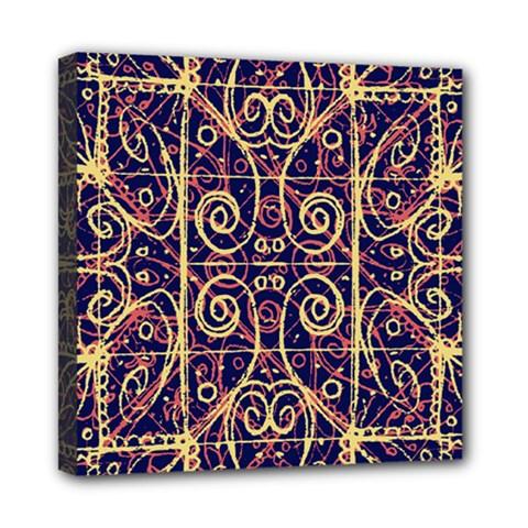 Tribal Ornate Pattern Mini Canvas 8  X 8  by dflcprints