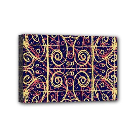 Tribal Ornate Pattern Mini Canvas 6  X 4  by dflcprints