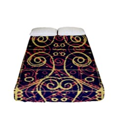 Tribal Ornate Pattern Fitted Sheet (full/ Double Size) by dflcprints
