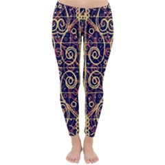 Tribal Ornate Pattern Classic Winter Leggings by dflcprintsclothing