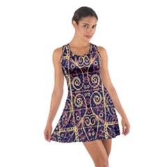 Tribal Ornate Pattern Cotton Racerback Dress by dflcprintsclothing