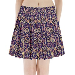 Tribal Ornate Pattern Pleated Mini Skirt by dflcprintsclothing