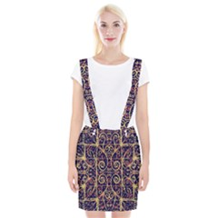 Tribal Ornate Pattern Braces Suspender Skirt by dflcprintsclothing