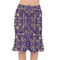 Tribal Ornate Pattern Mermaid Skirt by dflcprintsclothing
