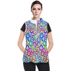 Colorful Ovals        Women s Puffer Vest