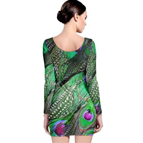 Long Sleeve Velvet Bodycon Dress