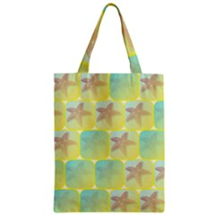 Starfish Zipper Classic Tote Bag by linceazul