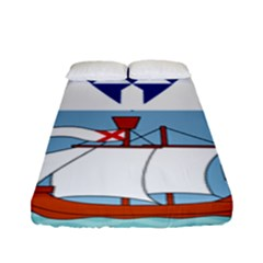 Flag Of Belfast Fitted Sheet (full/ Double Size) by abbeyz71
