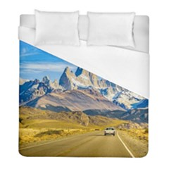 Snowy Andes Mountains, El Chalten, Argentina Duvet Cover (full/ Double Size) by dflcprints