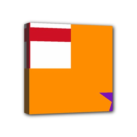Flag Of The Orange Order Mini Canvas 4  X 4  by abbeyz71