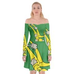 Starry Plough Flag  Off Shoulder Skater Dress by abbeyz71