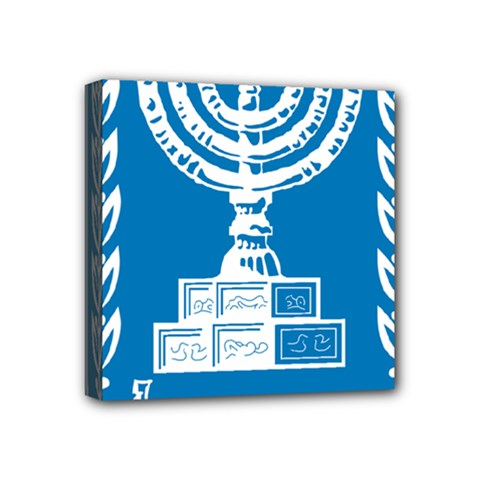 Emblem Of Israel Mini Canvas 4  X 4  by abbeyz71
