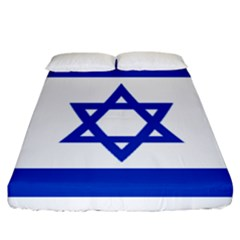 Flag Of Israel Fitted Sheet (california King Size) by abbeyz71