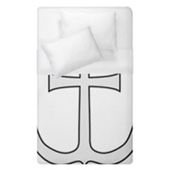 Anchored Cross  Duvet Cover (single Size) by abbeyz71
