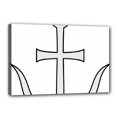 Anchored Cross Canvas 18  X 12  by abbeyz71