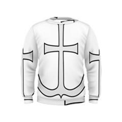 Anchored Cross Kids  Sweatshirt by abbeyz71