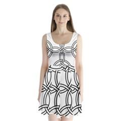 Carolingian Cross Split Back Mini Dress  by abbeyz71