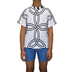 Carolingian Cross Kids  Short Sleeve Swimwear by abbeyz71