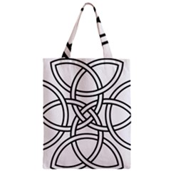 Carolingian Cross Zipper Classic Tote Bag by abbeyz71